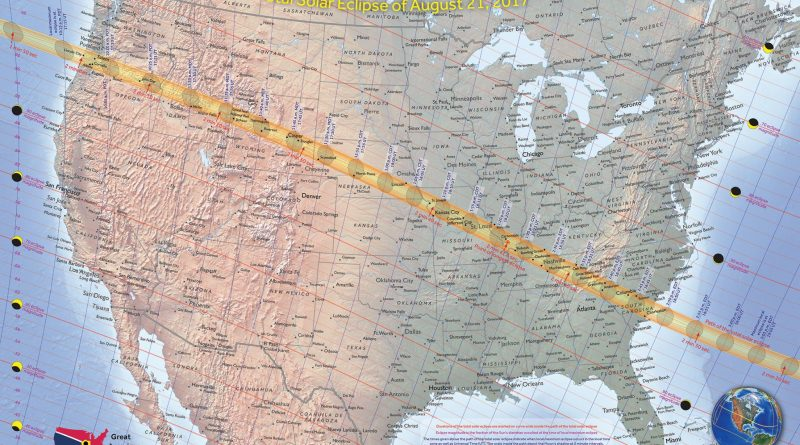 Great American Eclipse Path of Totality Map