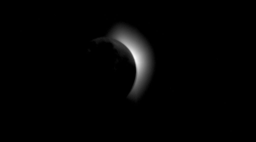 Caption: AS11-42-6179 (19 July 1969) Buzz Aldrin Apollo 11 Total Solar Eclipse