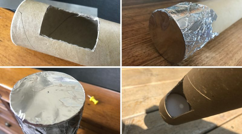 How to make a solar viewer with a cardboard tube