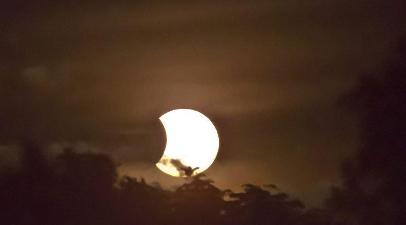 big partial solar eclipse