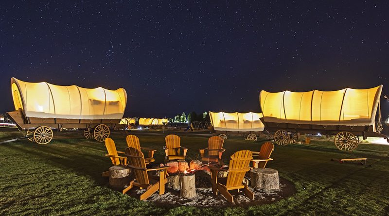 How to go glamping in Western wagons for the eclipse