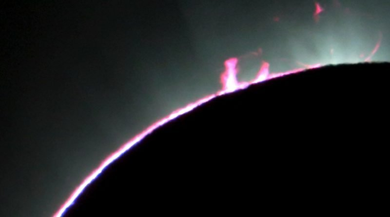 How to see massive explosions of the Sun's surface during the eclipse